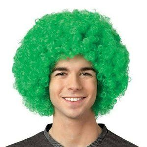 Green Curly Clown Party Wig Costume Halloween NEW